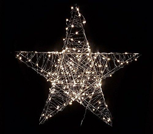 Deko Weihnachts Stern mit 180 warmweißen LEDs - 78x78 cm - Weihnachtsdeko Innen Außen zum Aufhängen