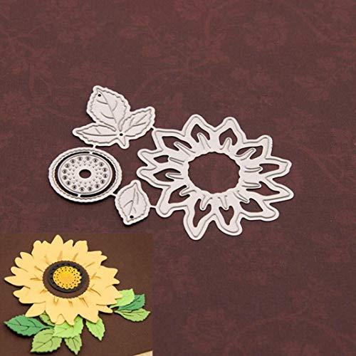 P12cheng troqueles de corte de metal, plantillas de girasol troqueladas, bricolaje, álbumes de recortes, manualidades, invitaciones de boda, decoración de tarjeta de Pascua