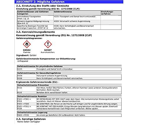 Isopropanol 2-Propanol Isopropylalkohol 99,9% - 3x 1L Erfahrungen & Preisvergleich