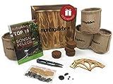 Montagsliebe Bonsai Starter Kit Premium Regalo Set de cultivo de 4 tipos, caja de madera, instrucciones y tijeras