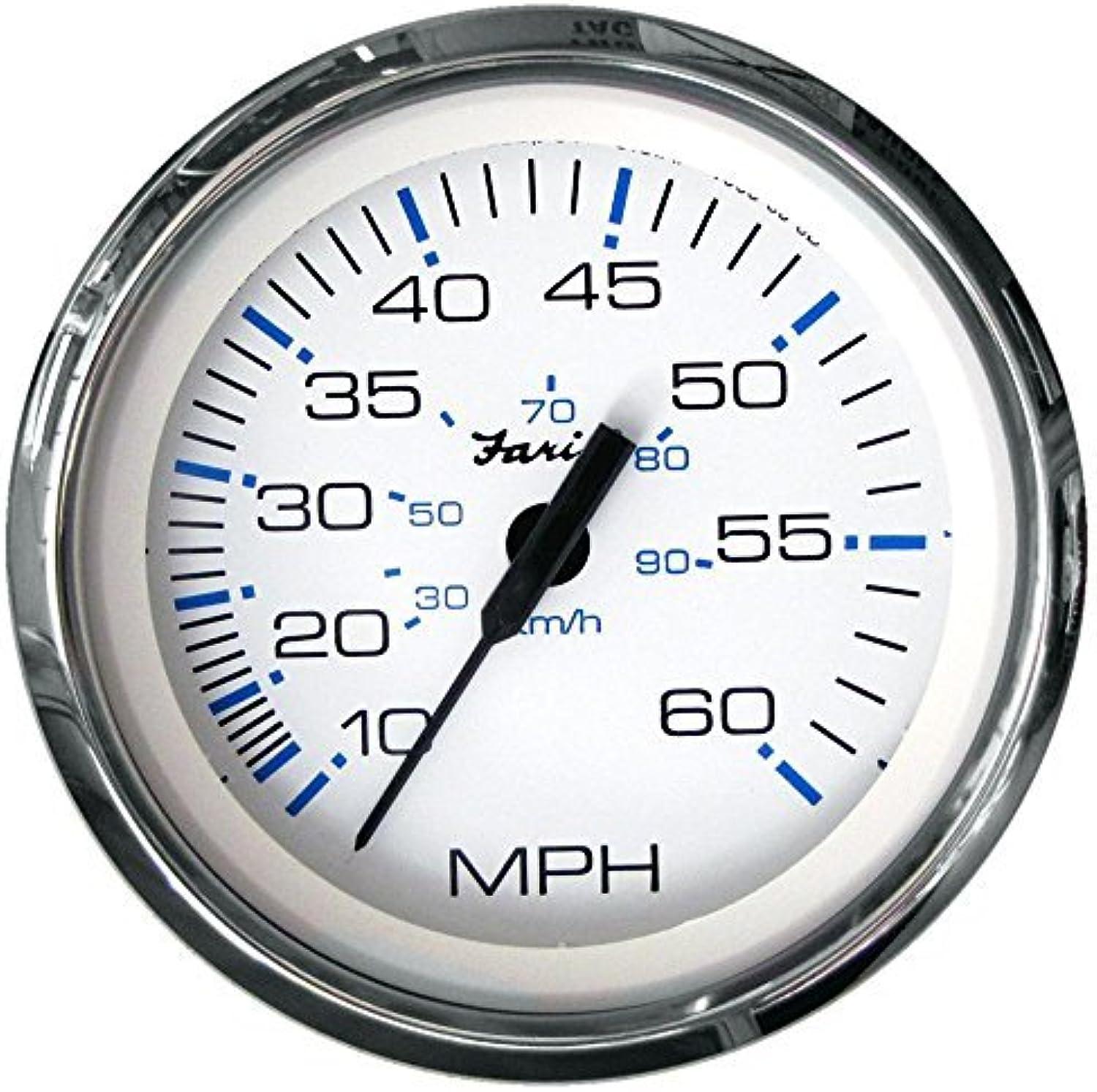 Faria Chesapeake Weiß SS 4Speedometer 60MPH by Faria
