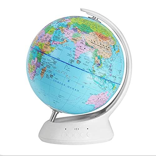 Globo del Mundo de 7.8in de diámetro Globo del Mundo Iluminado Globo del Mundo geográfico de Escritorio para niños Globos políticos para niños 8.2x11 & # 34;