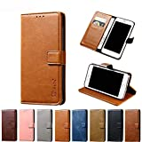 BQ Aquaris X2 Case, AKABEILA PU Leather Flip Wallet Phone