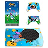 Vinyl Skin Sticker Cover Decal for Microsoft X-Box-Series-S Console and Remote Controllers Cockroaches Funny HD Printing