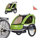 Remolque de bici para niños con kit de footing BT504-D02 limon verde