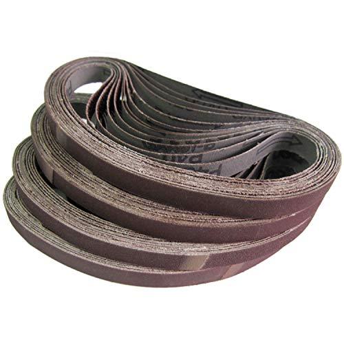HKB ® Gewebe-Schleifbänder, 48 Stück, 13 x 457 Körnungen je 8x 40/60/80/120/180/240 für Black & Decker Powerfeile, Hochwerige Profi-Qualität, Hersteller HKB, Artikel-Nr. 420072