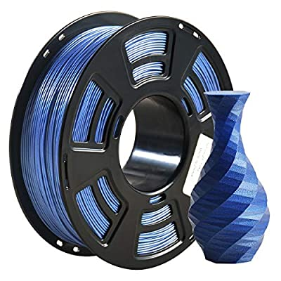 PLA Filament 1.75mm Sparkly Glitter 3D Printer Filament, Geeetech 3D Printer PLA Filament,1.75mm,1kg per Spool,Sparkly Glitter Blue