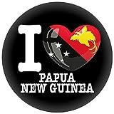 FanShirts4u Button/Badge/Pin - I Love PAPUA NEUGUINEA Fahne Flagge (I Love Papua New Guinea)