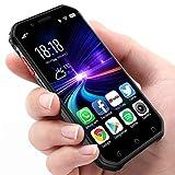 Mini Smartphone 3.0'Teléfono móvil a Prueba de Agua 4G Desbloqueado Teléfono Celular Dual SIM GPS NFC 3 + 32GB ROM (Negro)