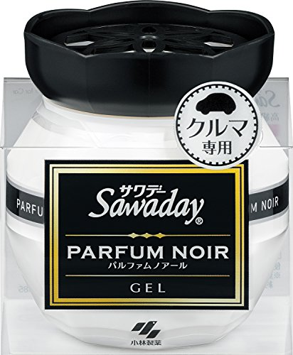 サワデー消臭芳香剤クルマ用置き型ゲルタイプパルファムノアールの香り90g