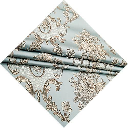 WanXingY Light Luxury Cheongsam Yarn-gefärbte Modegewebe for Nähkleidung Jacquard Kleid Stoff Brautkleid Stoff (Farbe : Grün, Größe : 100x145cm)