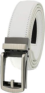 Yudesundo Belts Mens - Cow Split Fashion Belt Adjustment Alloy Ratchet Automatic Slider Buckle Waistband Formal Business C...