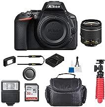 Nikon D5600 w/AF-P DX NIKKOR 18-55mm f/3.5-5.6G VR + Case + 32GB SD Card (International Model)