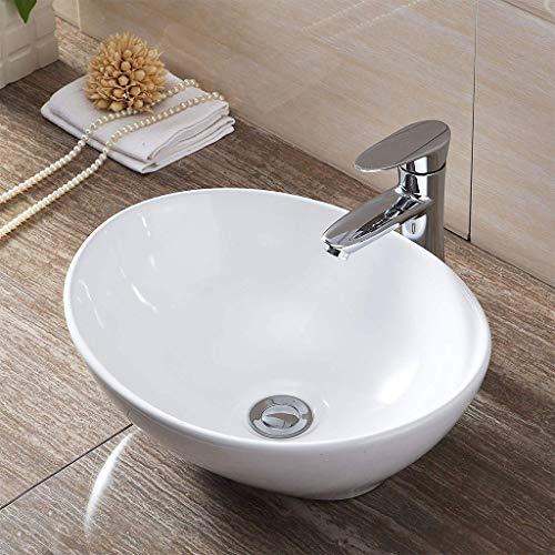 Modernes Badezimmer-Schiff-Bassin-Wanne, ovale Porzellan-keramische Waschbecken-Wanne aufgesetzt Waschbecken 0515