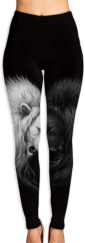 YAOAIAI Black White Lion Heart Soft 3D Cheap mail order sales Women's Printed Leggings Excellent