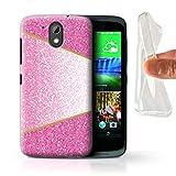 Hülle Für HTC Desire 526G+ Glitter Muster Effekt Rosa