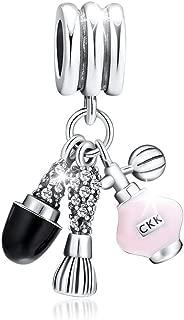 CKK Sexy Kiss 925 Sterling Silver Dangle Charm Fit Pandora Dangle Charms Bracelet (Makeup Sets)