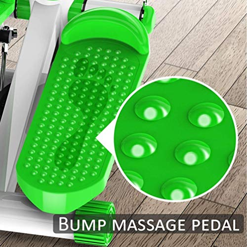DSHUJC Mini Stepper,Fitness Stair Stepper - Portable Twist Stair Stepper Adjustable Resistance,with Adjustable Resistance, Green & LCD Display and Comfortable Foot Pedals