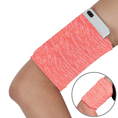 Armband Wristband for Smartphone Running - Phone Wrist Band Sleeve Arm Bag - Running Sports Arm Strap Wristband Holder Pouch Case for Exercise Workout Fits up to 6 inch Phone - 1PC Variegated Orange