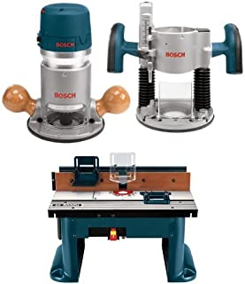 Bosch Router Power Tools 1617EVSPK – 12 Amp 2-1/4-Horsepower Plunge and Fixed Base..