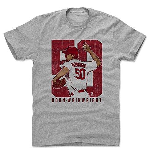 500 LEVEL Adam Wainwright Shirt (Cotton, XXX-Large, Heather Gray) - St. Louis Men's Apparel - Adam Wainwright Clutch R