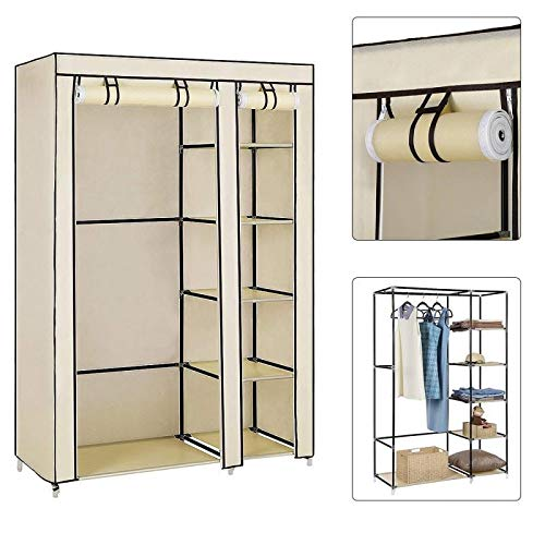 ZBXCVZH Armario de Telas Muebles de Almacenamiento Tela de Almacenamiento Closet Plegable No Tejido Portátil Impermeable Refuerzo Dormitorio a Prueba de Polvo (Color : 110x45x178cm)