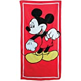 Jerry Leigh Disney Mickey Mouse Classic Beach Towel Red