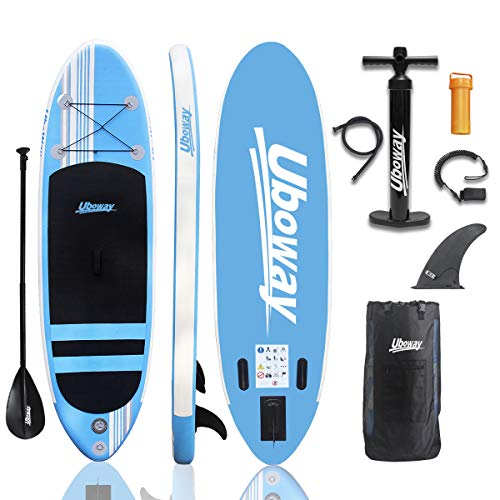 Uboway Inflatable Stand Up Paddle Board 6'' Thick...