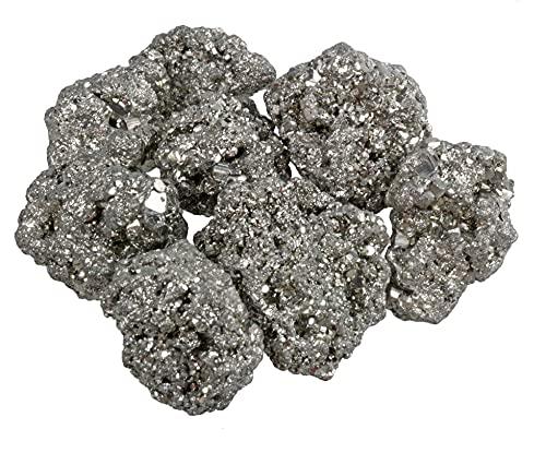 Piedras en bruto de pirita sin tratar, 100% natural, 300 g