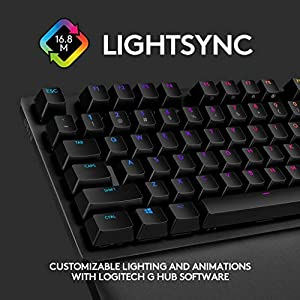 Logitech G513 Carbon LIGHTSYNC RGB Mechanical Gaming Keyboard with GX Brown Switches - Tactile