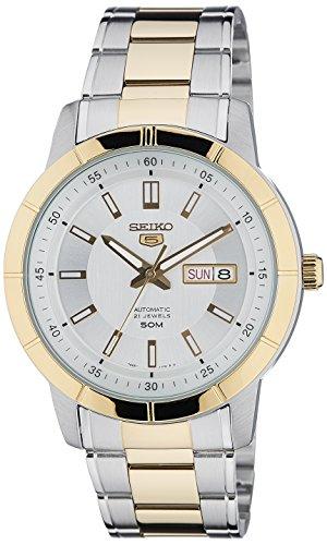 Seiko 5 Analog White Dial Men's Watch - SNKN58K1