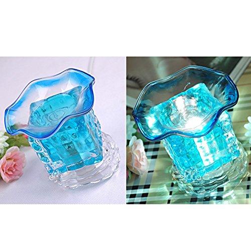 Zcxbhd geurende olie nachtlampje diffusers glas aromatherapie essentiële aroma diffuser luchtbevochtiger tafellamp (groen) blauw