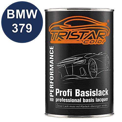 TRISTARcolor Autolack Dose spritzfertig für BMW 379 Velvet Blue Metallic Basislack 1,0 Liter 1000ml