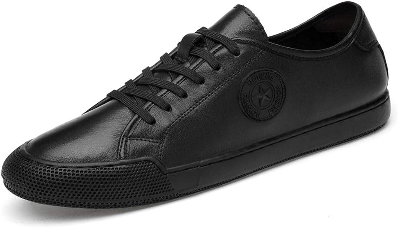 XSY2 Mens Casual Schuhe Leder Schnürschuhe 2019 Neuer Komfort Atmungsaktiv Fahren Schuhe Turnschuhe Formelle Geschft,B,41