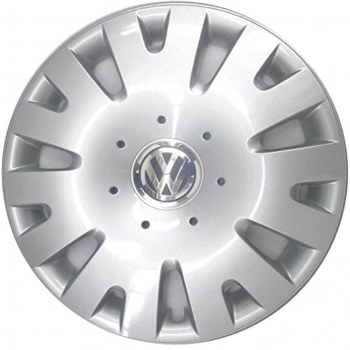 Volkswagen 5Z0071454 Wieldoppenset 14 inch voor Fox/Polo 4 in zilver, set van 4