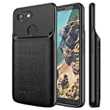 NEWDERY Google Pixel 3 XL Battery Case, 4700mAh Slim Extended Charging Case with TPU Raised Bez…