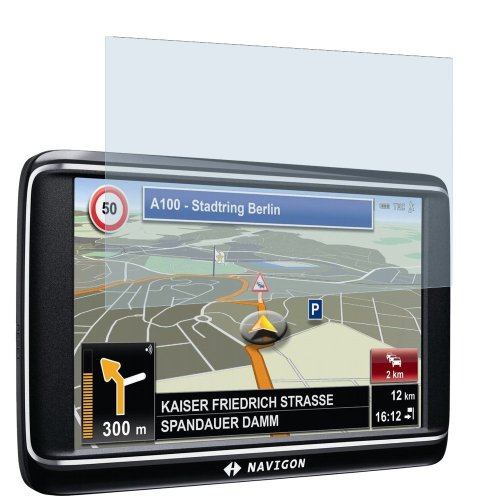 dipos I 2X Schutzfolie matt kompatibel mit Navigon 70 Premium Car Folie Displayschutzfolie