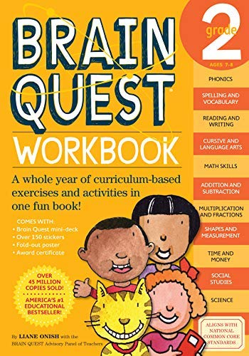 by Liane Onish :: Brain Quest Workbook, Grade 2-Paperback
