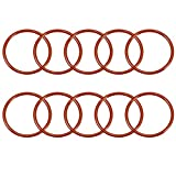 Sourcingmap Silikon-O-Ring, 55 mm Außendurchmesser, 48 mm Innendurchmesser, 3,5 mm Breite, VMQ Dichtungsringe, Rot, 10 Stück