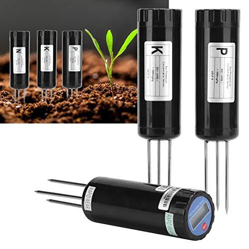 Voluxe Medidor de pH del Suelo, Kit de Prueba de Suelo NPK con Pantalla LCD para Plantas