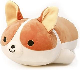 ألعاب الحيوانات المحشوة أفخم لينة كورجي الكلب لطيف رمي وسادة لعب الراحة النوم الشريك هدايا للأطفال 40 سم