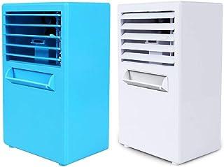 Alarmclocker8B Mini Ventilador de Aire Acondicionado silencioso portátil Ventilador de refrigeración por Agua humidificador de Aire evaporativo silencioso Sala de Vapor Sudor Oficina Blanco-EE. UU.