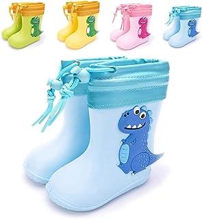 Botas de lluvia, unisex, para niños y niñas, cómodas, ligeras, con dinosaurios, zapatos de lluvia, Azul (Azul piel), 20/21 EU
