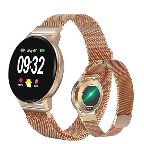Smartwatch Relojes inteligentes, reloj deportivo de la manera ocasional elegante pulsera mujeres del reloj for hombre del rastreador de ejercicios, a prueba de agua reloj de pulsera inteligente pulser
