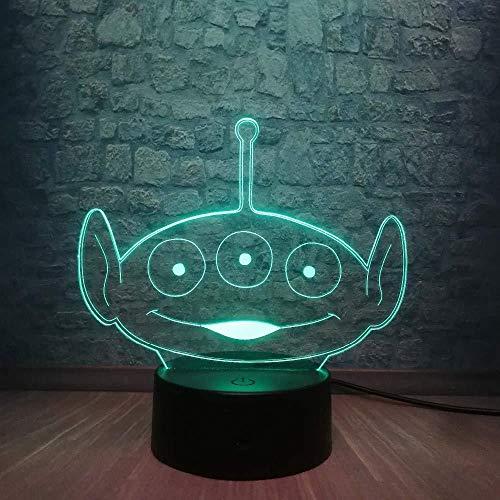 3D-Illusionslampe Weihnachtstisch Geschenke 3D-Lampe Süße Aliens 3D-LED-Lampe USB-Aufladung Teen Schlafzimmer Schlaf Nachtlicht Schreibtischlampe Home Dekoratives Kindertagsgeschenk Spielzeug mit