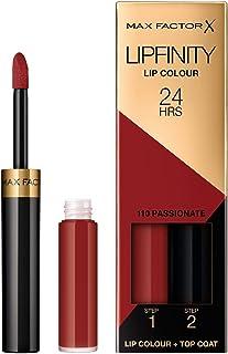 Max Factor Lipfinity Passionate 110 szminka do ust o trwałości 24 h, bez wysychania, z intensywnym uwalnianiem kolorów, pr...