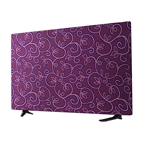 GXGR Cubierta de Polvo de TV Compatible con Soportes y Soportes estándar para televisión de Pantalla Plana, TV Inteligentes,Púrpura,55 in