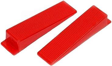 Tile Leveling Wedges 300 stuks herbruikbare tegel trede Wedges nivellering-systeem wedges vloer muur rood