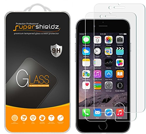 Supershieldz (2 Pack) for iPhone 8 Plus and iPhone 7 Plus (5.5 inch) Tempered Glass Screen Protector, Anti Scratch, Bubble Free