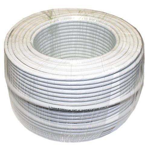 Ligawo ® 100m CAT6S/FTP 100m CAT6S/FTP (STP) Netzwerk-Kabel AWG23 Weiß